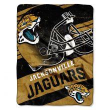 "NFL Jacksonville Jaguars Deep Slant Micro Raschel Throw Blanket, 46"" x 60"""