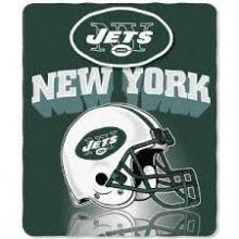 "New York Jets 50"" x 60"" Gridiron Fleece Throw Blanket"
