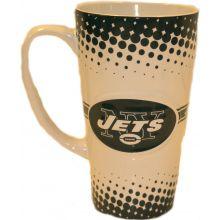 New York Jets 16-ounce Sculpted Latte Mug