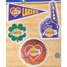 LA Lakers 4 Pack Magnet Set