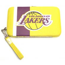 "Los Angeles Lakers Distressed Wallet Wristlet Case (3.5"" X .5"" X 6"")"