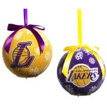 Lakers LED Light-up Ornament Set of 2