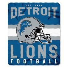 "Detroit Lions 50"" x 60"" Singular Fleece Throw Blanket"