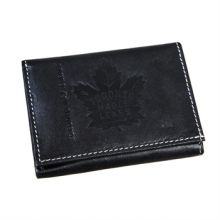 Toronto Maple Leafs  Black Leather Tri-Fold Wallet