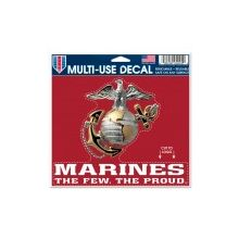 """United States Marines Multi-Use Decal 5"""" X 6"""" Cut To Logo"""