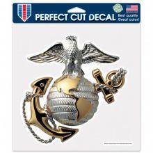 "United States Marines 8"" X 8"" Die-Cut  Perfect Cut Decal"