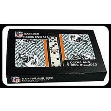 Miami Dolphins 2 Packs of Playing Cards with Dice