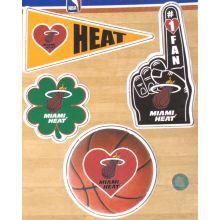 Miami Heat 4 Piece Magnet Set