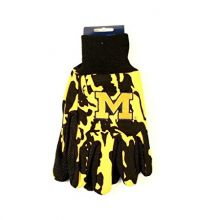 NCAA Michigan Wolverines Team Color Camo Utility Gloves