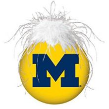 Michigan Wolverines Faux Fur Ball Ornament