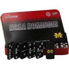 Michigan Wolverines Logo Domino Set in Gift Tin