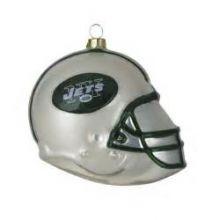 New York Jets Blown Glass Team Helmet Ornament