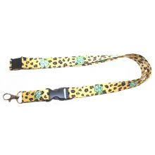 NCAA North Dakota Leopard Fighting Hawks  Print Breakaway Lanyard Key Chain