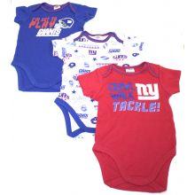 New York Giants 3 Piece Bodysuit Set 0-3 Months