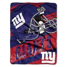 "New York Giants  46"" x 60"" Deep Slant Super Plush Throw Blanket"