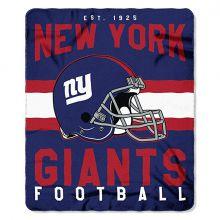 """New York Giants 50"""" x 60"""" Singular Fleece Throw Blanket"""