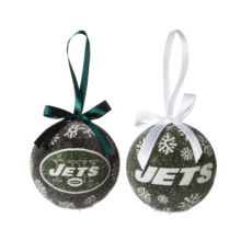 LED Light-up Ornament Set of 2 (New York Jets)