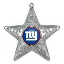 "New York Giants 4"" Silver Star Ornament"