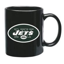 New York Jets 15 oz Black Ceramic Coffee Cup