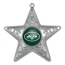 "New York Jets 4"" Silver Star Ornament"