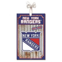 New York Rangers Corrugated Metal Sign Ornament