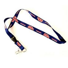 NCAA Ole Miss Rebels Team Color Breakaway Lanyard Key Chain