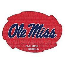 "Ole Miss Rebels 5"" x 6"" Repeating Design Swirl Magnet"