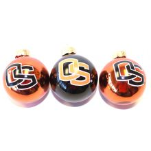 Oregon State Beavers 3 Pack Round Ball Ornaments