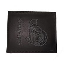 Ottawa Senators  Black Leather Bi-Fold Wallet