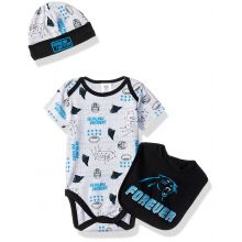 "Carolina Panthers  Infant ""Forever"" Panthers Bodysuit, Bib and Cap Set (0-3 Months)"