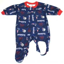 New England Patriots 2018 Toddler Footed Blanket Sleeper 2T