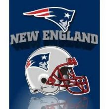 "New England Patriots 50"" x 60"" Gridiron Fleece Throw Blanket"