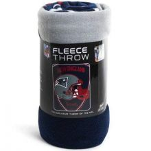 "New England Patriots 40"" x 60"" Shield Fleece Throw Blanket"