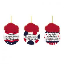 New England Patriots 3 pc. Team Sayings Ornaments