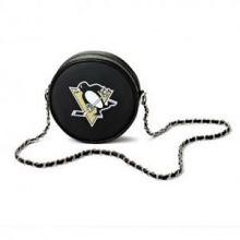NHL Pittsburgh Penguins  Hockey Puck Crossbody Purse