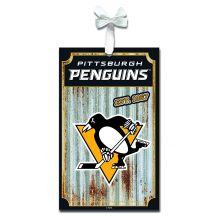 Pittsburgh Penguins Corrugated Metal Sign Ornament