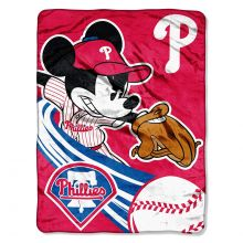 Philadelphia Phillies Plush Mickey Mouse Throw Blanket