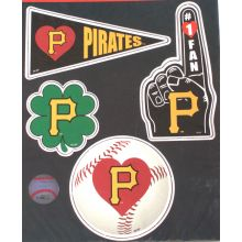 Pittsburgh Pirates 4 Piece Magnet Set