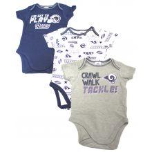 Los Angeles Rams 2018 Infant 3 Piece Bodysuit Set (6-12 Months)