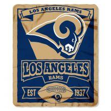 "Los Angeles Rams 50"" x 60"" Marque Fleece Throw Blanket"