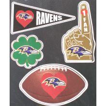 Baltimore Ravens 4 Piece Magnet Set
