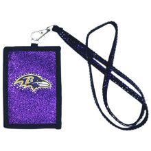 Baltimore Ravens Beaded Lanyard I.D. Wallet