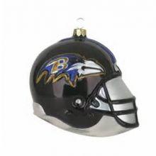 Baltimore Ravens Blown Glass Team Helmet Ornament