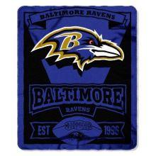 "Baltimore Ravens 50"" x 60"" Marque Fleece Throw Blanket"