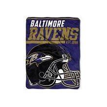 "Baltimore Ravens 46"" x 60"" Super Plush Throw Blanket"