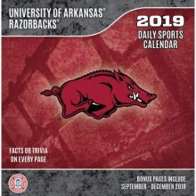 Arkansas Razorbacks 2019 Boxed Desk Calendar