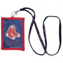 Boston Red Sox Beaded Lanyard I.D. Wallet
