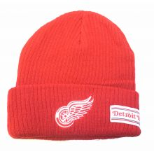 Detroit Red Wings Red Cuffed White Banner Beanie