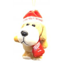 Detroit Red Wings 4 inch Plush Dog Ornament