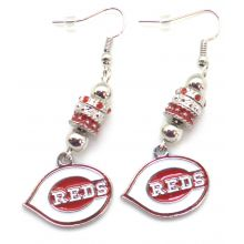 Cincinnati Reds Euro Bead Earrings